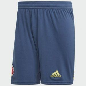 NEW! Men's adidas Colombia 19-20 Home Shorts Blue